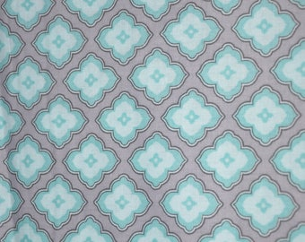 Last Yard!  One Yard of Blue & Gray 100% Cotton Quilt fabric by Waverly