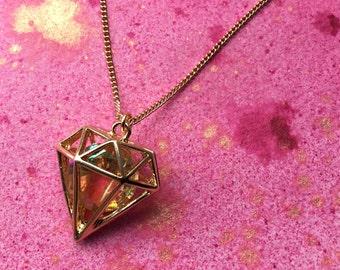 3D Diamond Necklace