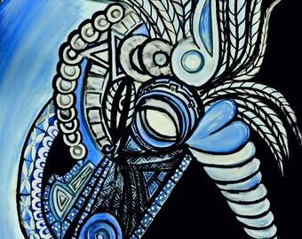 Unicorn Aztec Style 11x17/Unicorn Magic/gifts for girls/Unicorn fantasy/girl gifts/mythology/Aztec art/fantasy art/magic art/unicorn art