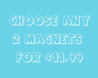 Fridge Magnets, Refrigerator Magnets, Office Magnets, Fun Magnets, Any 2 for 11.99