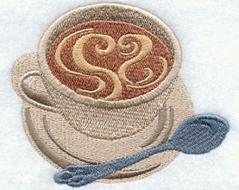 Love My Coffee - Embroidered Flour Sack Hand/Dish Towel
