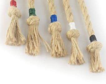 Upgrade - Colourful cotton markers for jute ropes, the individual touch for your rope