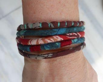 Handmade Artisan Fabric Bracelet