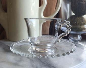 Candlewick Cup and Saucer set of 8