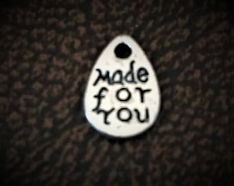 """30 Small """"Made for You"""" Metal Tags"""