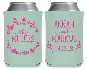 Spring Love Can Coolers Beverage Insulator Personalized Spring Custom Wedding Favors | Flowers | Beer Huggers/Can Holders | READ DESCRIPTION