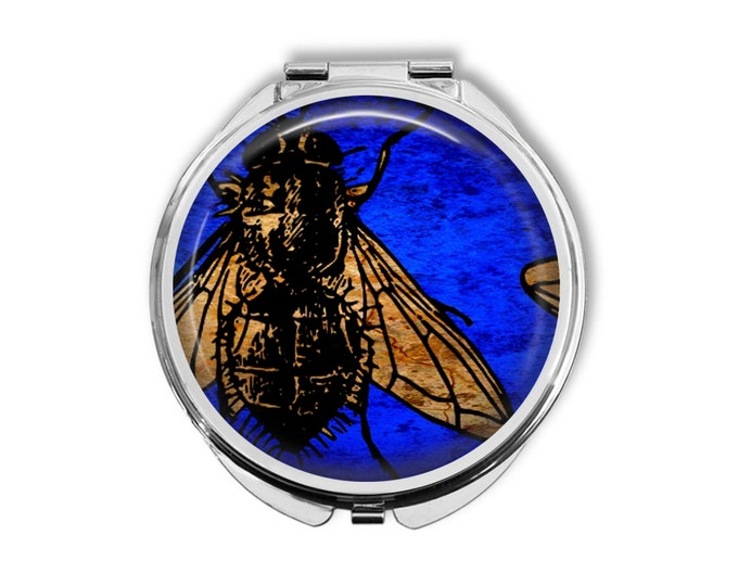 Fly Compact Mirror Pocket Mirror Large Gifts for her