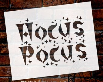 Hocus Pocus - Word Stencil - Select Size - STCL1273 by StudioR12