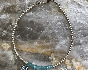Delicate Bracelet // Karen Hill Tribe Silver, Apatite