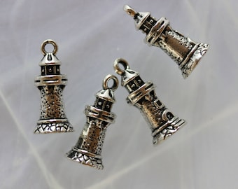 metal Lighthouse charm