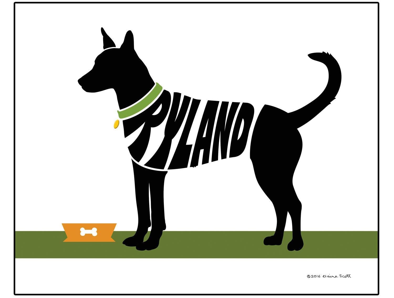 Personalizados impresión de perro de Carolina Dingo americano