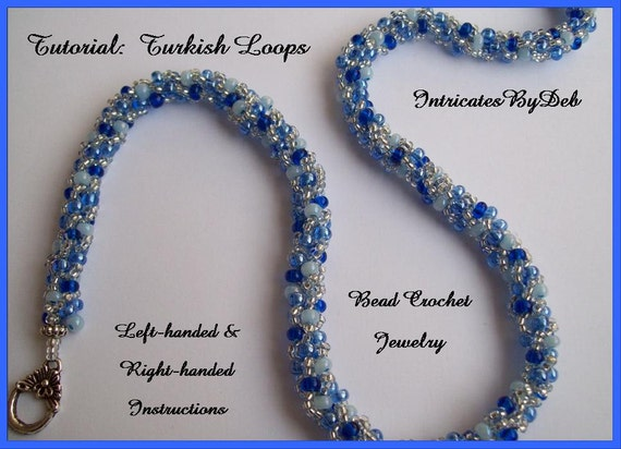 Tutorial Beaded Crochet Turkish Loops Bracelet Or Necklace Left