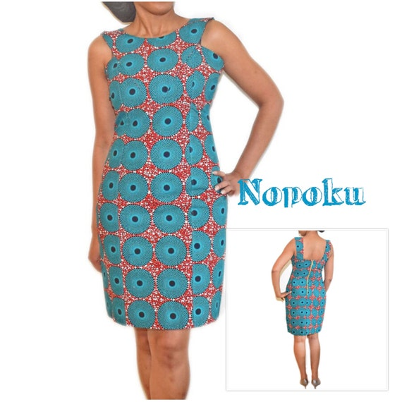 Blaue Ankara Kleid afrikanischen Print Kleid Party Kleid