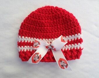Baby Hat, Cincinnati Reds, Handmade, Newborn, 3-6 months
