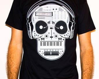 DJ Skull Mixer/ MSC 24 - Music DJ Man T-shirt
