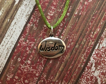 """Sterling Silver 925 """"Wisdom"""" Serenity Prayer Pendant for Recovery"""