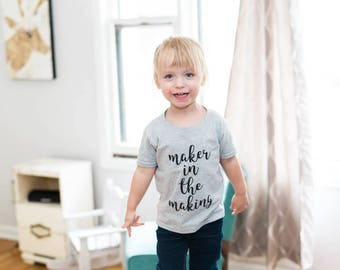 Maker in the Making grey Toddler T (4T)