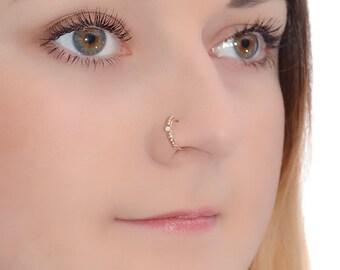 Gold Nose Ring Nose Ring Gold Nose Hoop Nose Jewelry Nose