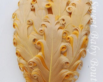 Feather Pad Tan/Gold