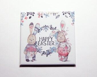 Happy Easter Magnet, Easter Bunny, Easter magnet, Magnet, Fridge magnet, Easter, Easter Rabbit, Easter gift, pastel colors (7387)