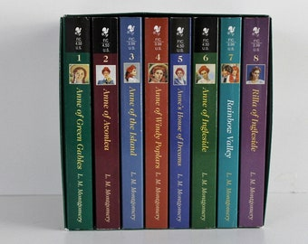 Anne of Green Gables complete boxed set of 8 books by L. M. Montgomery very good condition