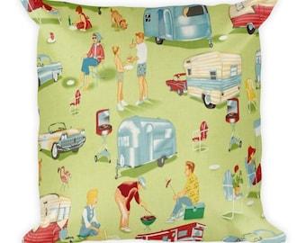 Vintage Camping Pillow