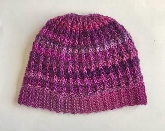 Messy Bun Hat - Magenta