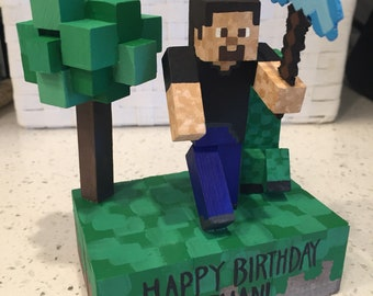 Minecraft custom cake topper