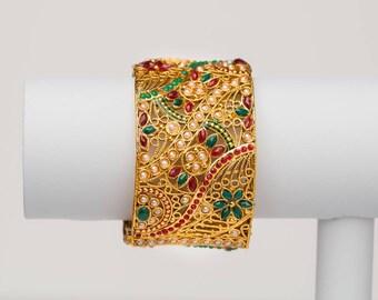 Indian Rajasthani traditional adjustable designer kada/bangle.