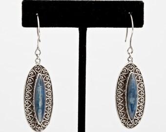 Kyanite 157 - Earrings - Sterling Silver & Kyanite