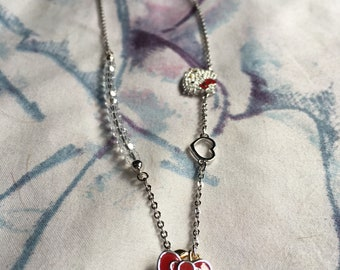 Crystal hello kitty necklace