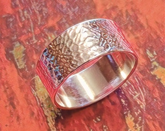 Pure Silver Root Cross Section Ring