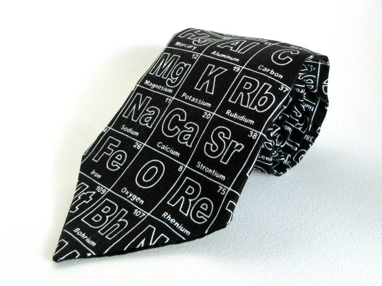 Periodic table necktie black white science periodic table of zoom urtaz Choice Image