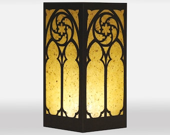 Gothic Window Design Laser cut Luminary Table Lamp Centerpiece - #97