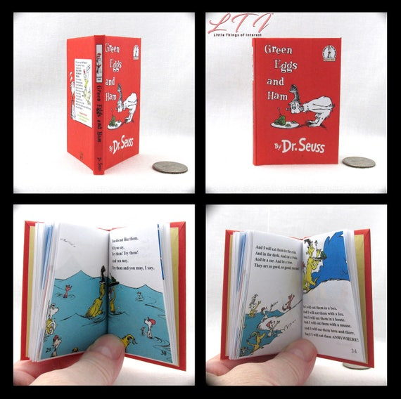 GREEN EGGS And HAM Book in 1:3 Scale Readable Book 18 inch Doll American Girl Book Dr. Seuss Children's Nursery  18 inch Ag