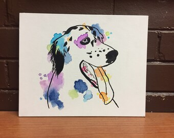 Customizable Acrylic/Watercolor Painting of Your Pet