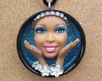 Zen  - Upcycled Barbie Doll Pendant
