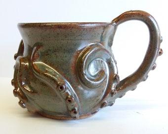 green-brown octomug, the octopus mug!
