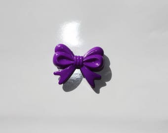 Beads acrylic bow - purple