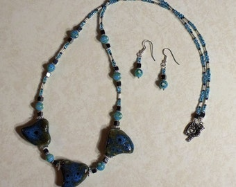 Dazzling Twist Necklace and Earrings Set JENSet00304