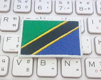 Tanzania Flag Applique Embroidered Iron on Patch