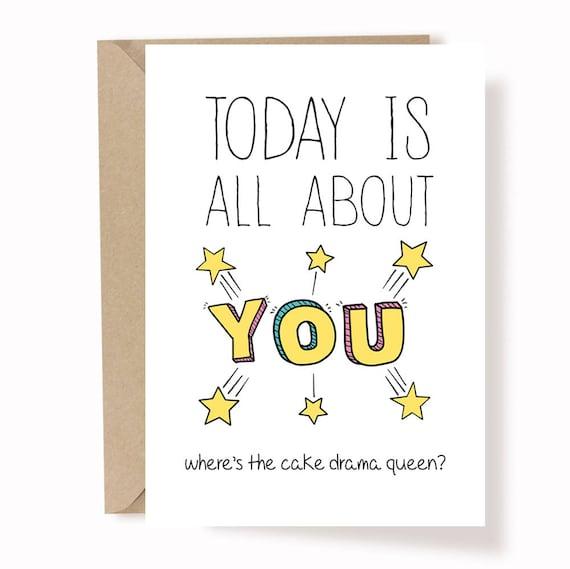 Lustige Geburtstagskarte beste Freundin Geburtstag Karte