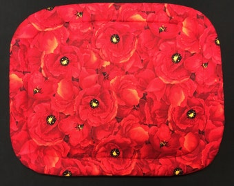Red Poppies Print Hot Mat