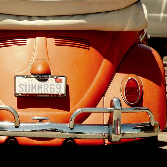 Orange Crush ,Beach Photography, Cottage, Coastal, VW, ,Summer, Wall Art