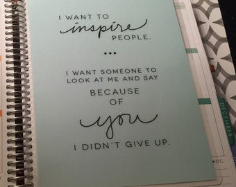 "DASHBOARD *Inspiration"" Quote for use with Erin Condren or Happy Planner"