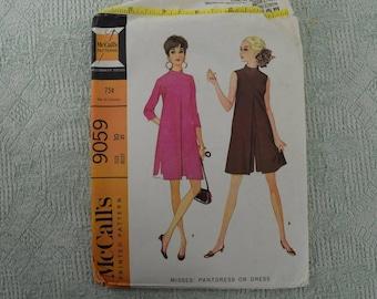 Mc Call's Sewing Pattern 9059 Dress Pantdress from 1967 size 10
