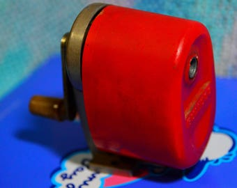 Vintage red Bulldog pencil sharpener