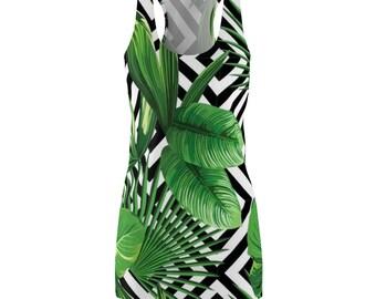 Womens Racerback Dress - Jungle Stripes
