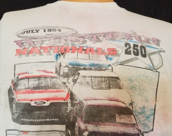 Vintage 1994 Western Nationals Evergreen Speedway Racetrack Racecar Race Car Track T-Shirt