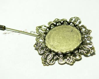 1 brooch pin retro 25 mm ref Z130119 BR